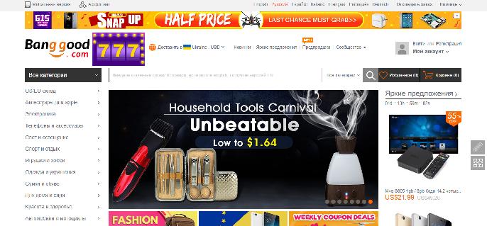 Banggood.com — интернет-гипермаркет — отзывы