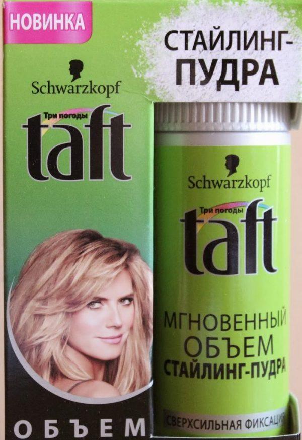 Стайлинг-пудра для волос Taft «Мгновенный объем» — отзывы