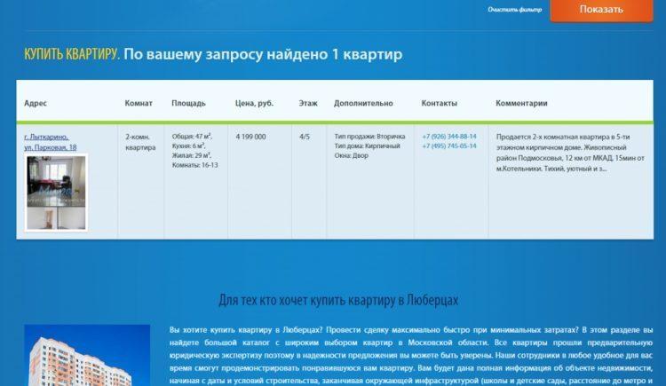 Агентство недвижимости «Мира» (Россия, Люберцы) — отзывы
