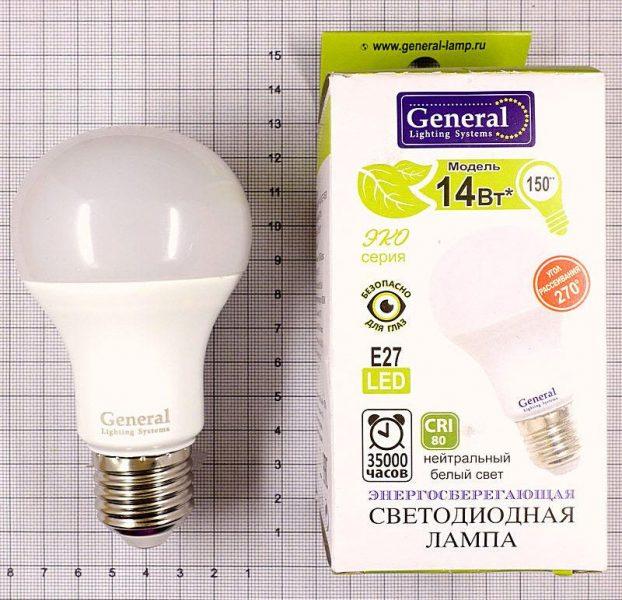 Светодиодная лампа General lighting Systems GLDEN-WA60-14-230-E27-4500 — отзывы