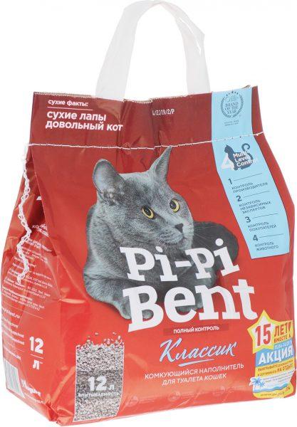 Наполнитель для кошачьего туалета Pi Pi Bent комкующийся классик — отзывы