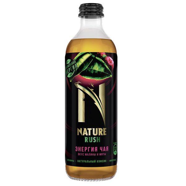 Напиток безалкогольный тонизирующий газированный Nature Rush Энергия чая вкус малины и мяты — отзывы