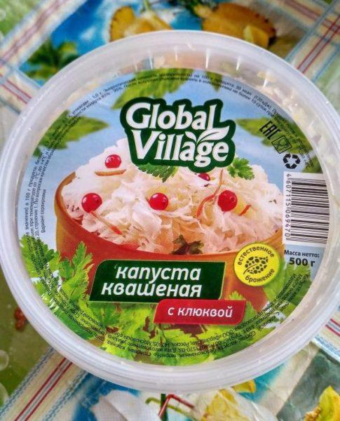 Капуста квашеная Global Village с клюквой — отзывы