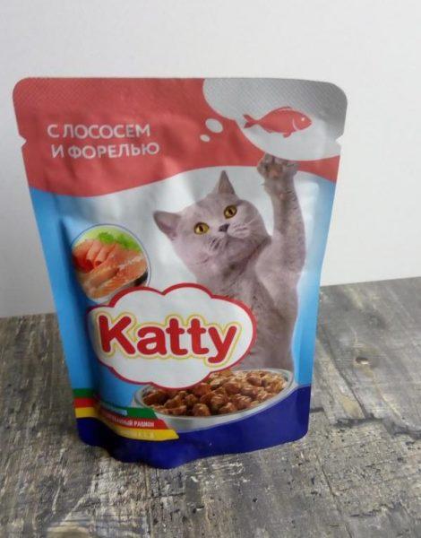 Корм для кошек Katty в пакетиках — отзывы