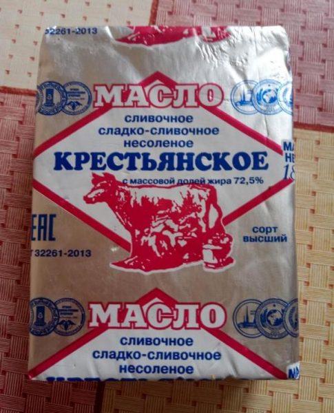 Масло сладко-сливочное несоленое Торг Уверсал — отзывы