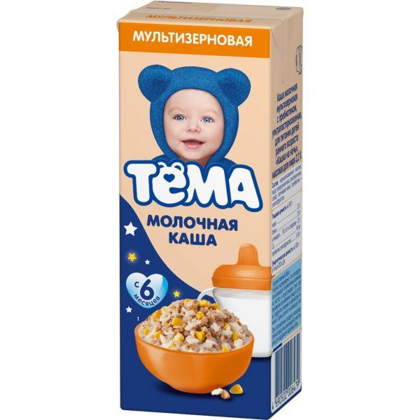 Каша молочная гречневая Тема с пребиотиками, ультра пастеризованная Каша на ночь — отзывы