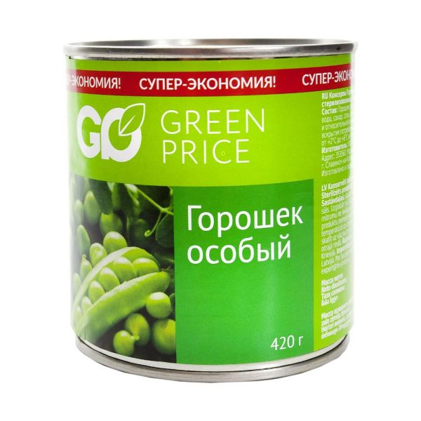 Консервы Горошек особый Green Price — отзывы