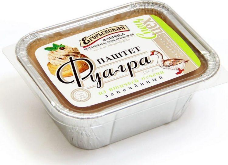 Паштет Егорьевская фабрика Фуа-гра из птичьей печени запеченный — отзывы