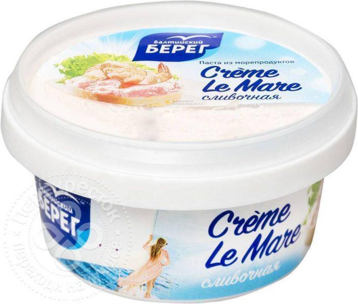 Паста из морепродуктов Балтийский берег Creme Le Mare сливочная — отзывы