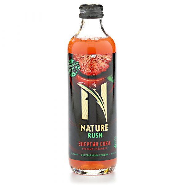 Напиток безалкогольный тонизирующий газированный Nature Rush Энергия сока. Красный грейпфрут — отзывы
