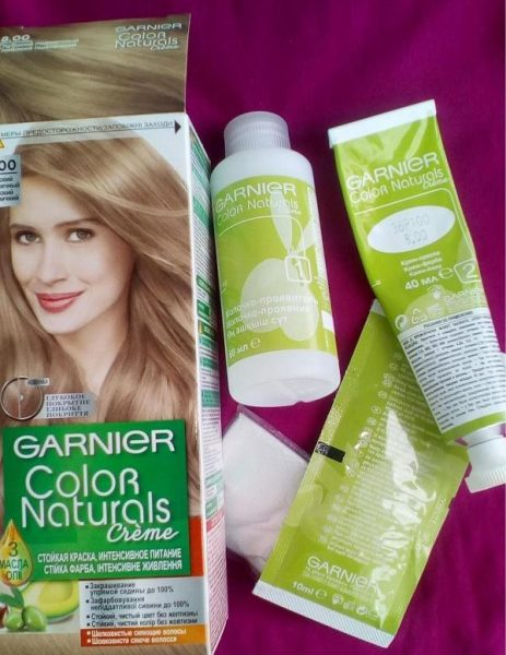 Краска для волос Garnier Color Naturals 8.00 Глубокий светло-русый — отзывы