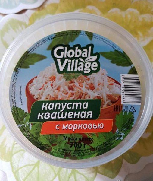 Капуста квашенная Global Village с морковью — отзывы
