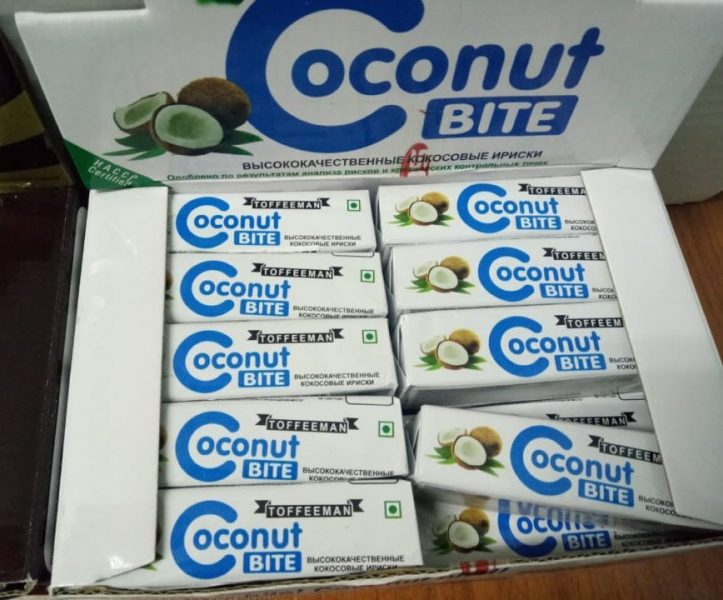 Кондитерские изделия сахаристые Toffeeman Ирис со вкусом кокоса Coconut Bite — отзывы
