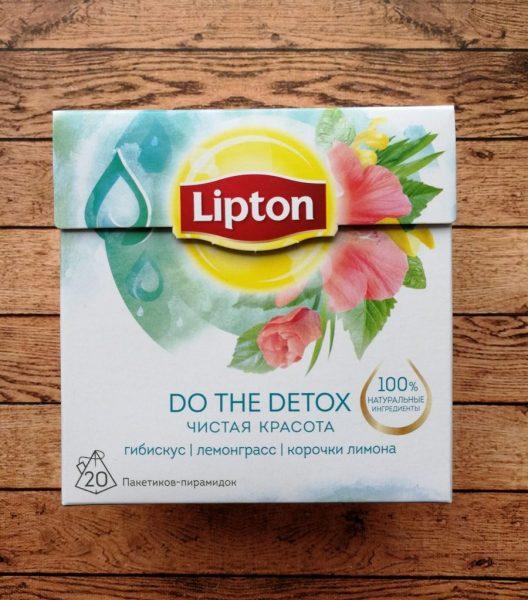 Напиток травяной Lipton Do the detox Чистая Красота с гибискусом, лемонграссом и корочками лимона — отзывы