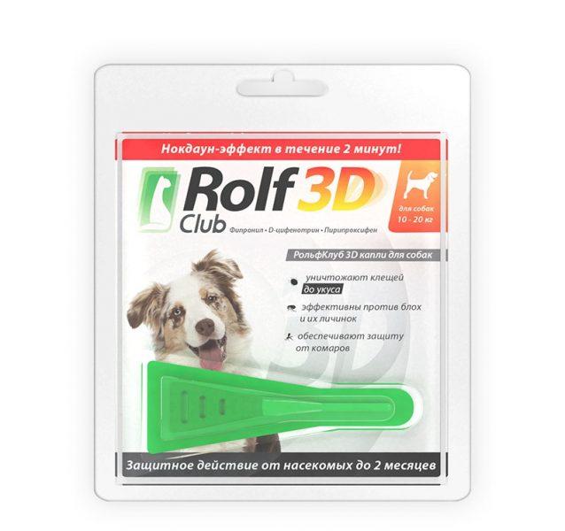 Капли для собак Экопром Rolf club 3D от блох, клещей и комаров — отзывы