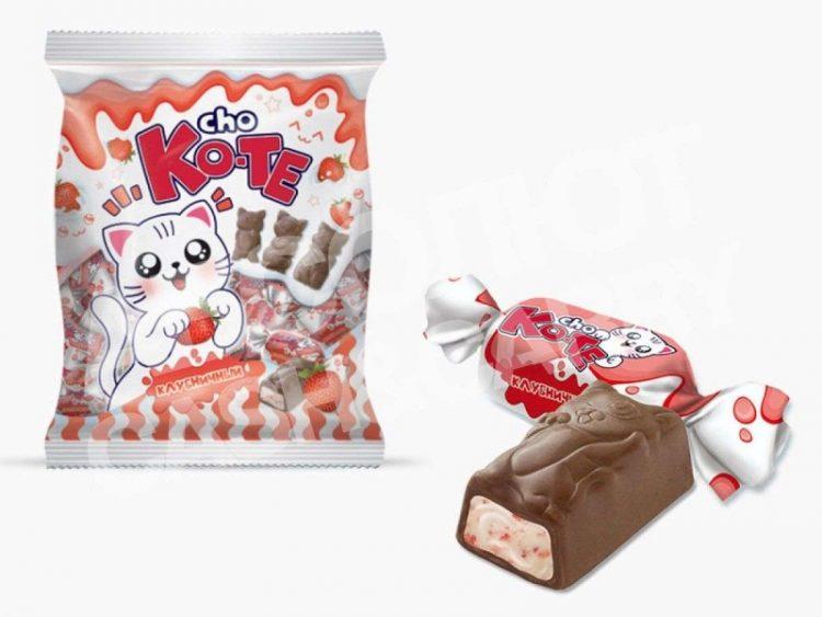 Конфеты Эссен Продакшн Cho ko-te с кусочками клубники — отзывы