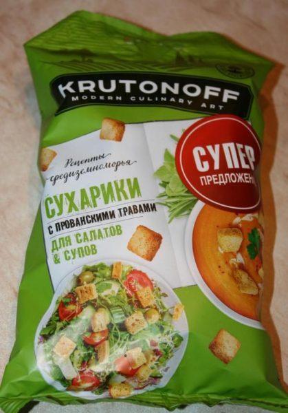 Сухарики для супов и салатов Павловский Посад Krutonoff — отзывы