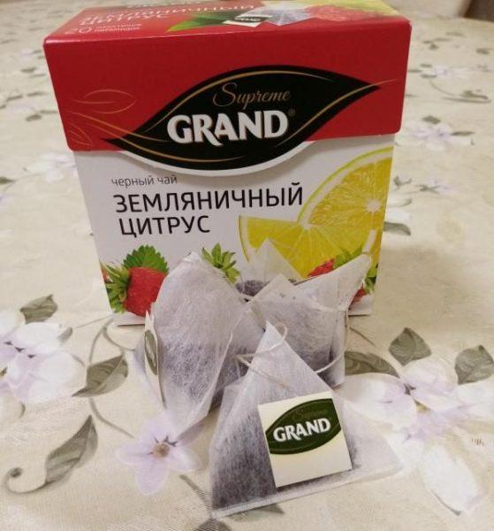 Чай черный Grand в пакетиках ароматизированный — отзывы