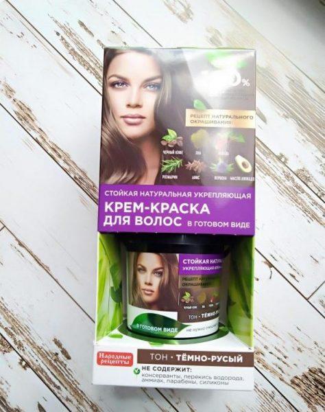 Стойкая натуральная укрепляющая крем-краска для волос Fito Косметик Народные рецепты в готовом виде — отзывы