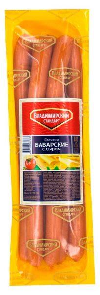 Сосиски Владимирский стандарт Баварские с сыром — отзывы