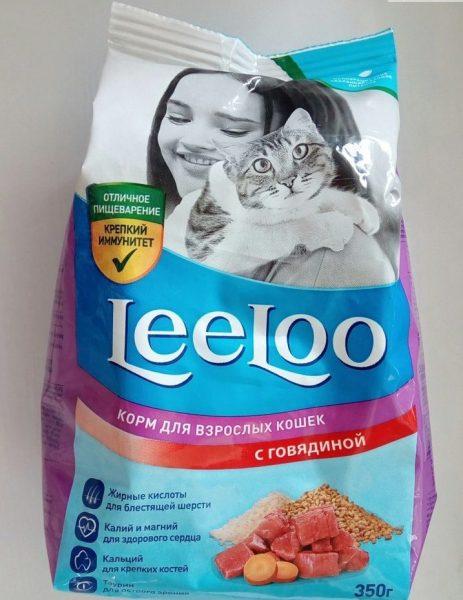 Сухой корм для кошек Радуга LeeLoo с говядиной — отзывы