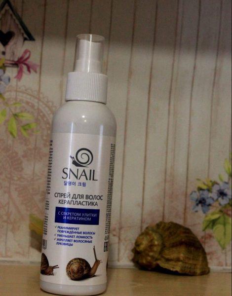 Спрей для волос Твинс Тэк керапластика Snail — отзывы